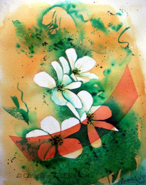 CHRISTIANE ALLENBACH WHITE DREAM 24 x 30 cm