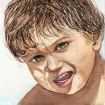 AQUARELLE | PORTRAITS  | PEINTUREMAMANLOTUS | CHRISTIANE ALLENBACH |  BOY PABLO CORDON PMP