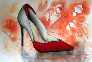 CHRISTIANE ALLENBACH | CHAUSSURE FEMME CENTENAIRE 18 x 26 CM