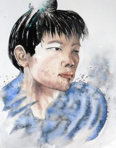 CHRISTIANE ALLENBACH JH CHINE IMPERIALE Fabriano Studio 27 x 35 cm