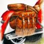 CHRISTIANE ALLENBACH SAC MOTO ARCHES 20 x 20 cm