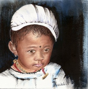 CHRISTIANE ALLENBACH | FILLETTE TIBETAINE PUBLIEE EN REVUE D ART