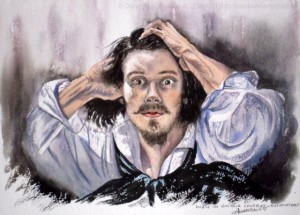 CHRISTIANE ALLENBACH | AQUARELLE DE L AUTOPORTRAIT DE GUSTAVE COURBET PUBLIE EN REVUE D ART INTERNATIONALE