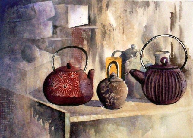 CHRISTIANE ALLENBACH | HEURE DU THE 20 x 28 cm