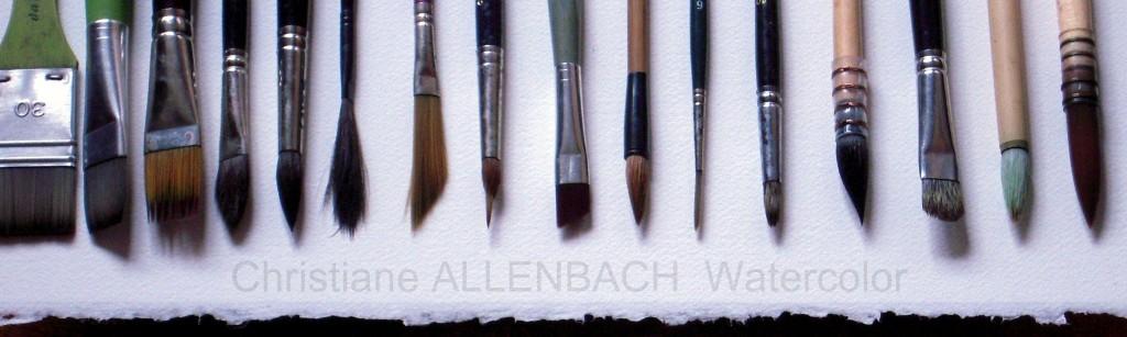 PEINTUREMAMANLOTUS | CHRISTIANE ALLENBACH | QUELQUES UNS DE MES PINCEAUX