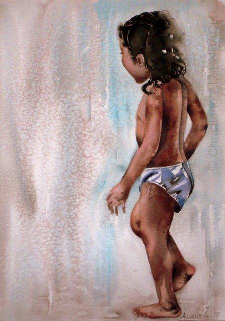 CHRISTIANE ALLENBACH DOUCHE DE LUNE ARCHES 25_5 sur 36 cm