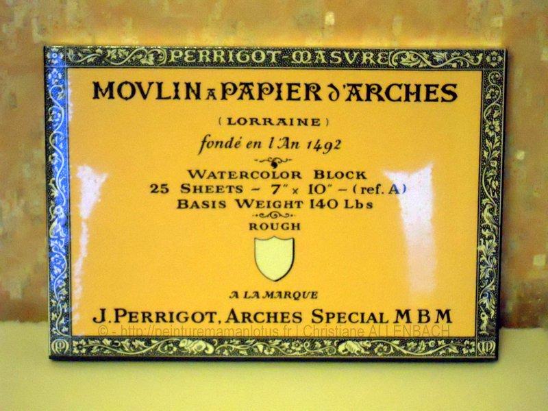 VOSGES | ARCHES | PEINTUREMAMANLOTUS | CHRISTIANE ALLENBACH | ANCIEN PAPIER ARCHES ACTUELLEMENT INTROUVABLE MERCI FRANCIS