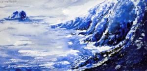 CHRISTIANE ALLENBACH | SKETCH ARCHES 15 x 30 CM 1 PINCEAU 1 TONALITE