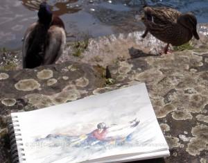 CHRISTIANE ALLENBACH | CANARDS ET LEUR CROQUIS