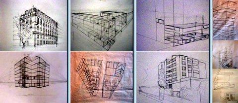 Dessiner une pièce meublée | Christiane ALLENBACH aquarelle