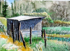 CHRISTIANE ALLENBACH SKETCH NEAR HOME ARCHES PP 30 x 40 cm