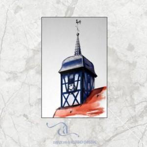 CHRISTIANE ALLENBACH UTTENHOFFEN EGLISE 18 x 24 cm