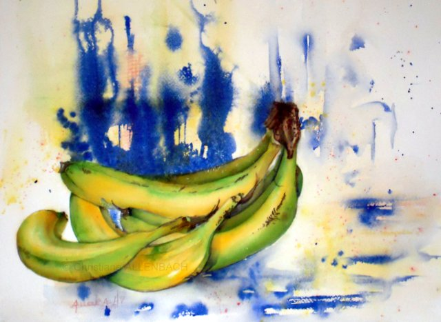 Christiane ALLENBACH 30 x 40 cm Bananes