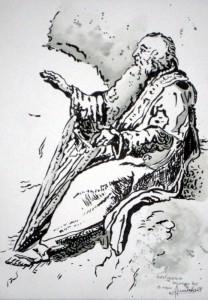 ALLENBACH CHRISTIANE DRUIDE SELON ANCIENNE GRAVURE