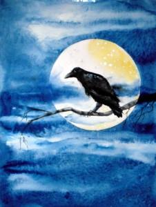 christiane-allenbach-art-spirituel-corbeau-30-x-40-cm
