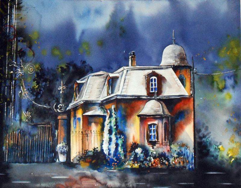 CHRISTIANE ALLENBACH CHATEAU FROESCHWILLER 40 x 50 cm