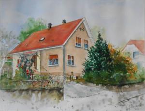 CHRISTIANE ALLENBACH CHEZ NANA 30 x 40 cm
