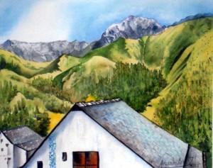 CHRISTIANE ALLENBACH EVASION HAUTE MONTAGNE 30 x 40 cm