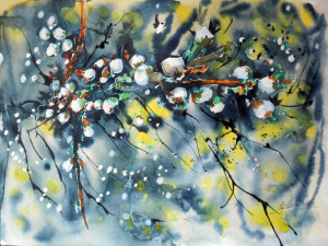 CHRISTIANE ALLENBACH FLEURS ET BOURGEONS 30 x 40 cm WN