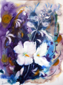 CHRISTIANE ALLENBACH FLEURS FIN ETE 30 x 40 cm
