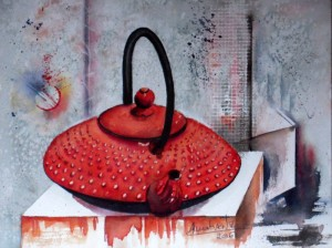 CHRISTIANE ALLENBACH TEA TIME 23 x 31 cm