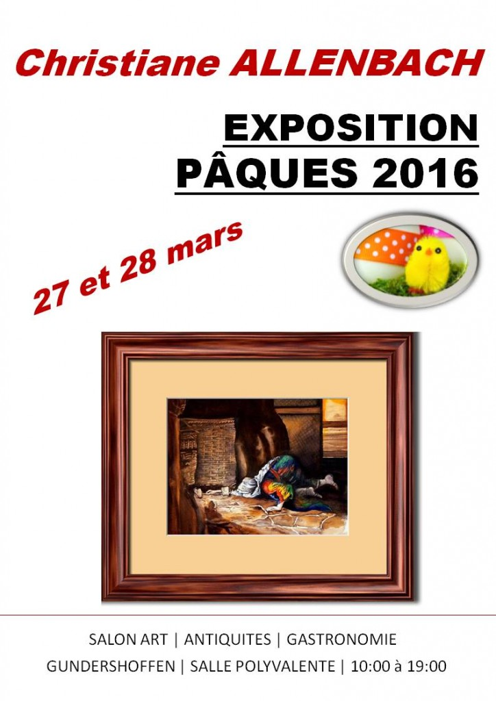 CHRISTIANE SALON ART ANTIQUITES PAQUES 2016