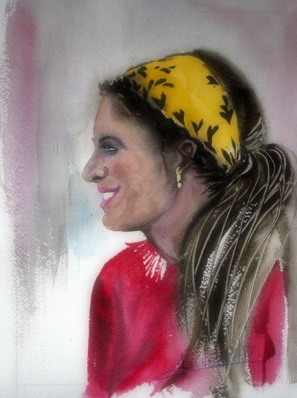 allenbach-christiane-femme-foulard-jaune