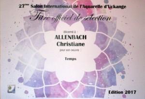 ALLENBACH CHRISTIANE UCKANGE 2017 1 OEUVRE PRESENTEE
