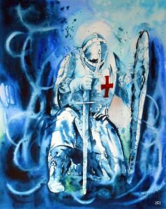 ALLENBACH CHRISTIANE SYMBOLISME MOYEN AGE CHEVALIER GENOU SOL
