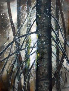 CHRISTIANE ALLENBACH CONTREJOUR FORESTIER 30 x 40 cm