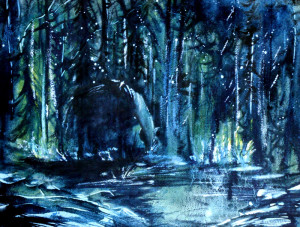 CHRISTIANE ALLENBACH NOCTURNE 30 x 40 cm