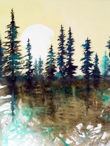 CHRISTIANE ALLENBACH REVE FORESTIER 30 x 40 cm