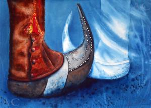 CHRISTIANE ALLENBACH VIVE LES SABOTS 30 x 40 cm