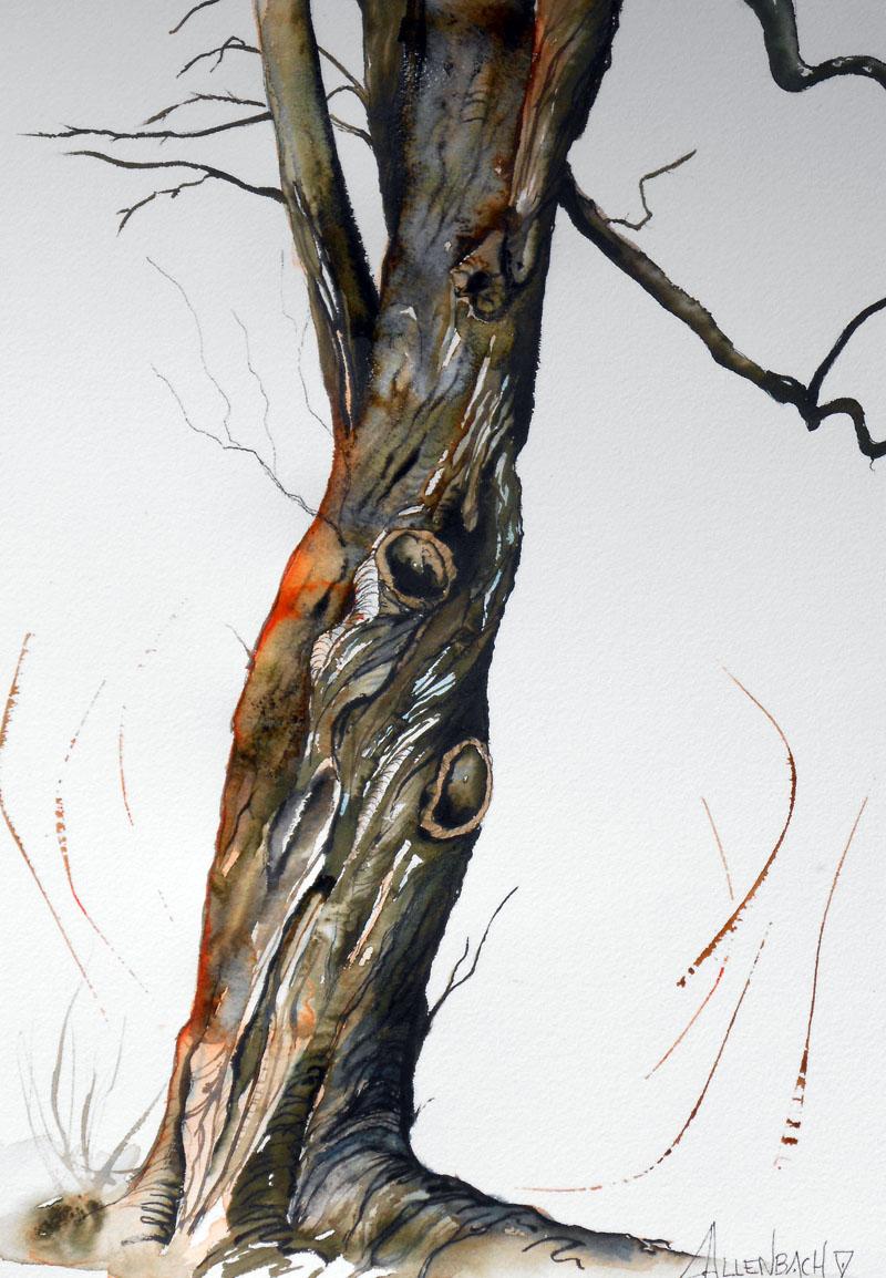 CHRISTIANE ALLENBACH 30 x 40 arbre du parc revisité