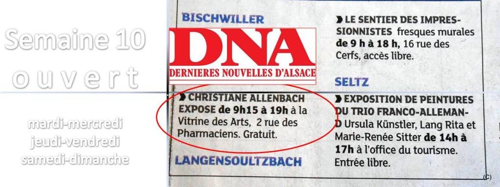 ALLENBACH CHRISTIANE BISCHWILLER PRESSE ECRITE DNA