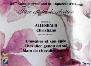 ALLENBACH CHRISTIANE TITRE DE SELECTION UCKANGE 2018