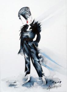 CHRISTIANE ALLENBACH MYSTIC 24 x 30 CM HAHNEMUEHLE LEONARDO 600