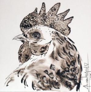 CHRISTIANE ALLENBACH INKTOBER chicken
