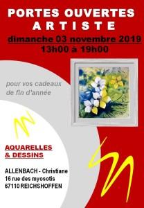 CHRISTIANE ALLENBACH PORTES OUVERTES 2019