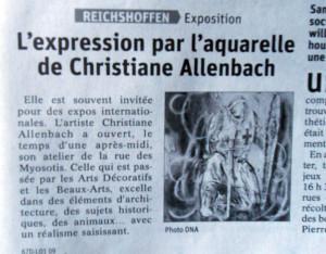 CHRISTIANE ALLENBACH APRES PORTES OUVERTES 2019