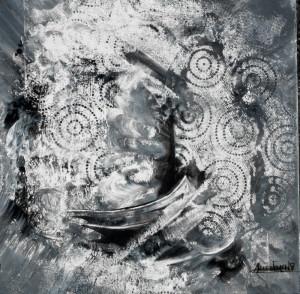 CHRISTIANE ALLENBACH ACRYLIQUE 30 x 30 cm IMPRESSION