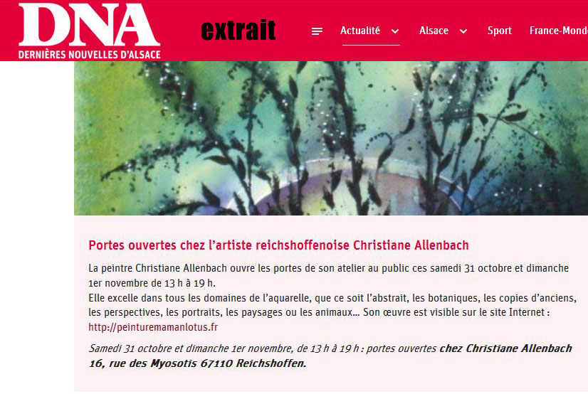 CHRISTIANE ALLENBACH DNA 28 OCT 2020