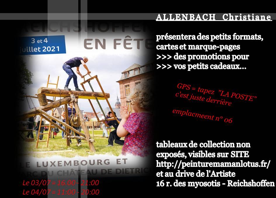 CHRISTIANE ALLENBACH ETE 2021 REICHSHOFFEN