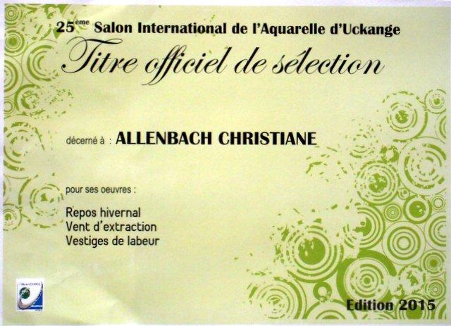 CHRISTIANE ALLENBACH   UCKANGE 2015