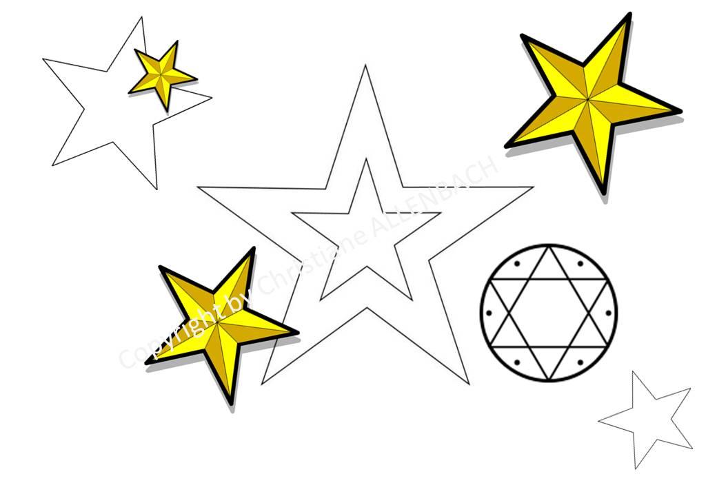 Moderne Dessiner une étoile à cinq branches | Christiane ALLENBACH aquarelle EG-87