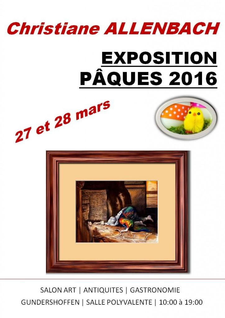 CHRISTIANE SALON ART ANTIQUITES PAQUES 2016